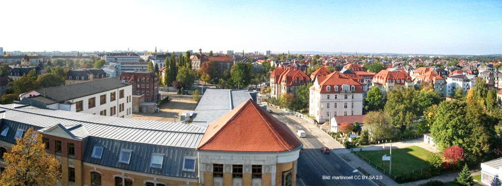 Dresden / Striesen | Blick vom Ernemannturm